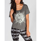 FULL TILT Yin Yang Womens Tie Side Tee
