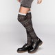 Burnout Pattern Womens Knee High Socks
