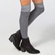 K. BELL Chevron Womens Thigh High Socks