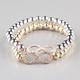 FULL TILT 2 Piece Beaded Infinity Bracelets