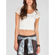 EYESHADOW Womens Lace Crop Top