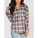 VANILLA STAR Bleached Womens Flannel Shirt