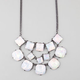 FULL TILT Hologram 3 Tier Statement Necklace