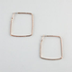 FULL TILT Rhinestone Square Hoop Earrings