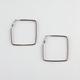 FULL TILT Rhinestone Square Hoop Earrings