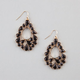 FULL TILT Teardrop Facet Dangle Earrings
