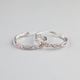 FULL TILT Rhinestone Infinity Hoop Earrings