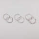 FULL TILT 3 Pairs Mesh/Chain Rhinestone Hoop Earrings