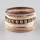 FULL TILT 10 Piece Gold/Beaded/Rhinestone Bangles