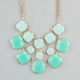 FULL TILT  3 Row Square Facet Stone Necklace