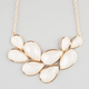FULL TILT Shimmer Teardrop Facet Stone Necklace