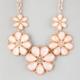 FULL TILT Facet Flower Statement Necklace