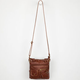 Washed Faux Leather Crossbody Bag