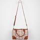 Crochet Overlay Duffle Handbag