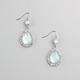 FULL TILT Rhinestone Facet Teardrop Stone Dangle Earrings