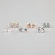 FULL TILT 6 Piece Anchor/Shell/Starfish Stud Earrings