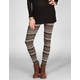 FULL TILT Ethnic Stripe Womens Ponte Leggings
