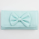 Faux Leather Bow Wallet