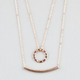 FULL TILT 2 Piece Circle/Bar Necklaces