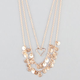 FULL TILT 3 Row Heart & Disc Necklace