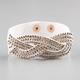 FULL TILT Rhinestone Faux Leather Snap Bracelet