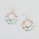 FULL TILT Stone Donut Hoop Earrings
