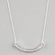 FULL TILT Rhinestone Crescent Bar Necklace