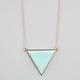 FULL TILT Facet Triangle Necklace