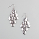 FULL TILT Textured Teardrop Chandelier Earrings