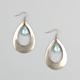 FULL TILT Stone Center Teardrop Earrings