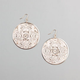FULL TILT Ethnic Disc Dangle Earrings