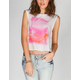ROXY Painterly Womens Lattice Side Tee