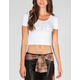 YOUNG & RECKLESS Mirror Mirror Womens Crop Tee