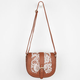 Lace Saddle Crossbody Bag