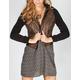 FULL TILT Fleece Hooded Womens Stone Wash Faux Leather Jacket