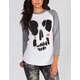 YOUNG & RECKLESS Headcase Womens Baseball Tee
