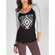 HURLEY Eye Party Womens Baseball Tee