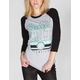YOUNG & RECKLESS HE Double Hockey Sticks Womens Raglan Tee