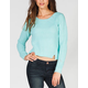 FULL TILT Shaker Stitch Womens Pointelle Crop Sweater