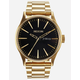 NIXON Sentry SS Black & Gold Watch