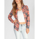 FULL TILT Womens Washed Flannel Shirt