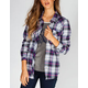 FULL TILT School Girls Womens Flannel Shirt