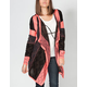 FULL TILT Ethnic Stripe Womens Hooded Wrap Sweater