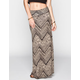 FULL TILT Multi Print Chevron Maxi Skirt