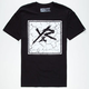 YOUNG & RECKLESS Box Logo Crackle Mens T-Shirt