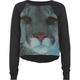 FULL TILT Lion Face Girls Crop Sweatshirt