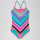 ROXY Border Girls T-Back One Piece Swimsuit