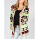 FULL TILT Bold Ethnic Pattern Womens Cardigan