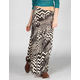 LILY WHITE Abstract Print Maxi Skirt