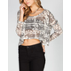 FULL TILT Elephant Womens Dolman Crop Top